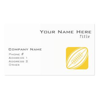 Rugbi ambarino amarillo plantilla de tarjeta personal