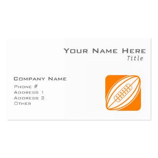 Rugbi anaranjado plantillas de tarjetas de visita