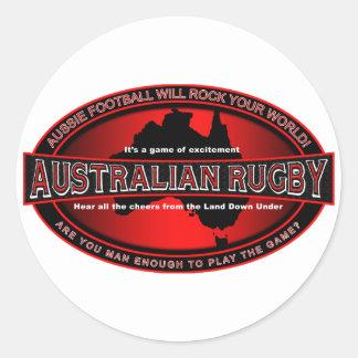 Rugbi australiano etiqueta