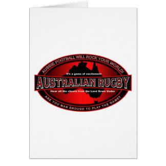 Rugbi australiano tarjetas