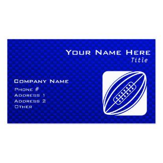 Rugbi azul plantillas de tarjeta de negocio