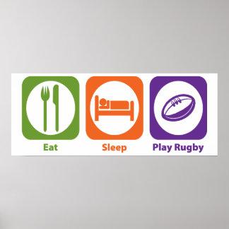 Rugbi de Eat Sleep Play Póster