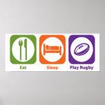 Rugbi de Eat Sleep Play Posters