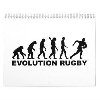 Rugbi de la evolución calendario de pared