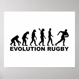 Rugbi de la evolución póster
