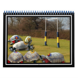 Rugbi de la tortuga calendario
