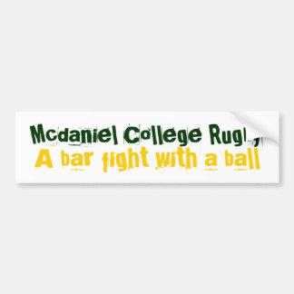 Rugbi de la universidad de Mcdaniel, lucha de la b Etiqueta De Parachoque