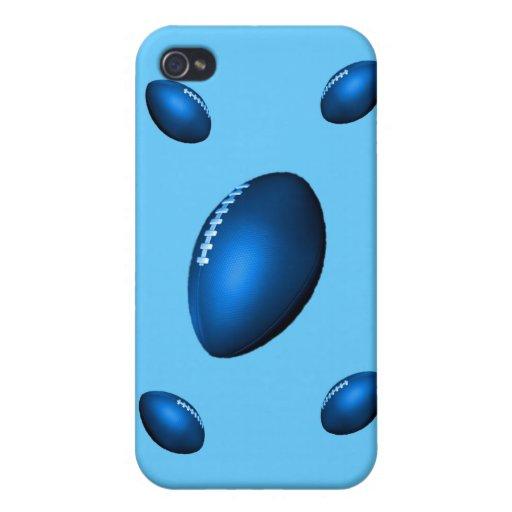 rugbi de los balones de fútbol del nfl del afl del iPhone 4 coberturas