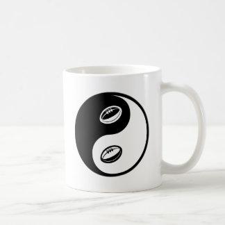 Rugbi de Yin Yang Tazas De Café