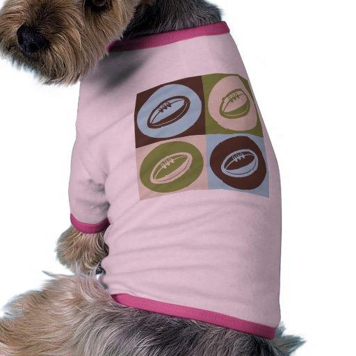 Rugbi del arte pop ropa para mascota