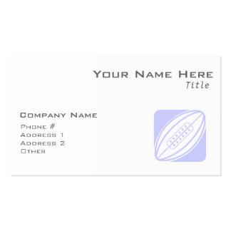 Rugbi del azul de la lavanda tarjeta de negocio