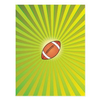 Rugbi del fútbol americano tarjeta postal