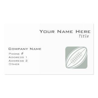 Rugbi del gris y del blanco de ceniza tarjetas de visita