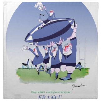 rugbi francés de 3 alegrías, fernandes tony servilleta de papel