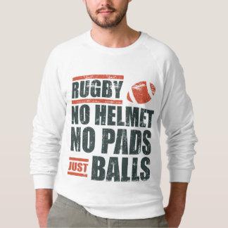Rugbi ningún casco ningunas bolas de los cojines camisas