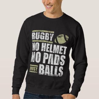 Rugbi ningún casco ningunas bolas de los cojines sudadera
