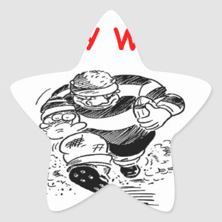 rugbi pegatina forma de estrella personalizadas