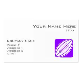 Rugbi púrpura violeta plantilla de tarjeta de visita