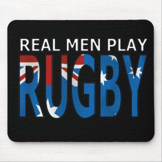 Rugbi real Australia del juego de los hombres Alfombrilla De Raton