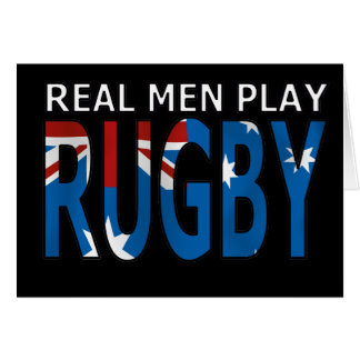 Rugbi real Australia del juego de los hombres Felicitación