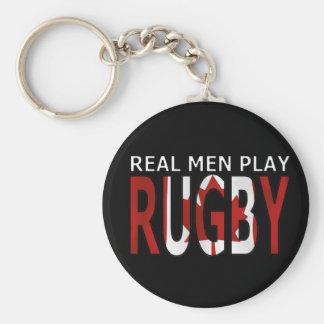 Rugbi real Canadá del juego de los hombres Llaveros Personalizados