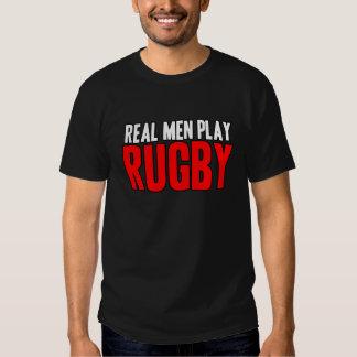 Rugbi real del juego de los hombres poleras