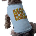 Rugbi real del juego de los hombres camiseta de perro
