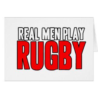 Rugbi real del juego de los hombres tarjeta de felicitación