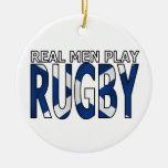 Rugbi real Escocia del juego de los hombres Ornamento Para Arbol De Navidad