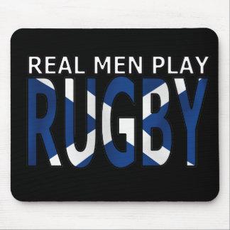 Rugbi real Escocia del juego de los hombres Alfombrilla De Ratón