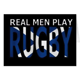 Rugbi real Escocia del juego de los hombres Felicitacion