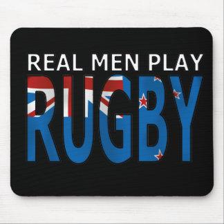Rugbi real Nueva Zelanda del juego de los hombres Alfombrillas De Raton