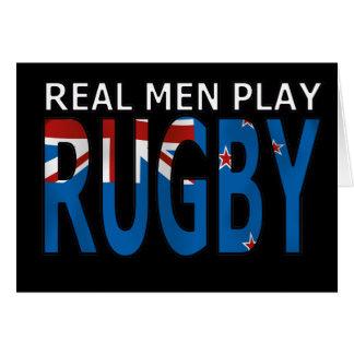 Rugbi real Nueva Zelanda del juego de los hombres Tarjeton