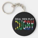 Rugbi real Suráfrica del juego de los hombres Llavero Personalizado