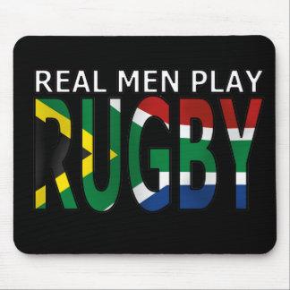 Rugbi real Suráfrica del juego de los hombres Alfombrilla De Raton
