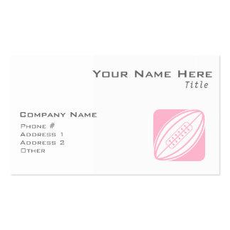 Rugbi rosa claro plantilla de tarjeta de negocio