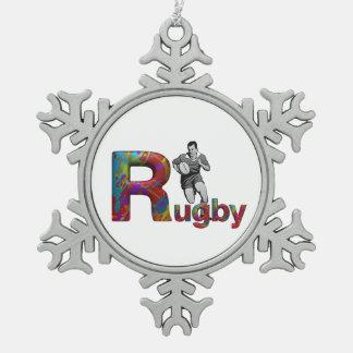 Rugbi SUPERIOR Adorno De Peltre En Forma De Copo De Nieve