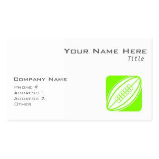 Rugbi verde chartreuse, de neón tarjetas de visita