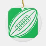 Rugbi verde de Kelly Adorno Navideño Redondo De Cerámica