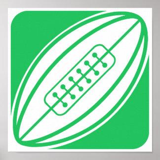 Rugbi verde de Kelly Póster