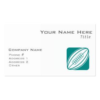Rugbi verde del trullo plantilla de tarjeta de visita