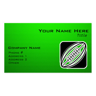 Rugbi verde plantilla de tarjeta personal
