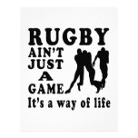 Rugby Ain't Just A Game It's A Way Of Life Customized Letterhead