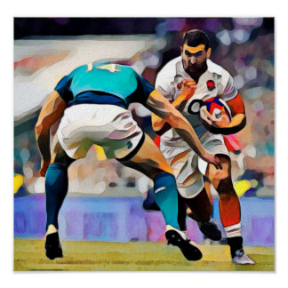 Rugby - Art On Canvas Print