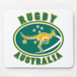 rugby australia kangaroo wallaby aussie mouse pad