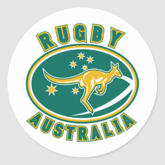 rugby australia kangaroo wallaby aussie stickers