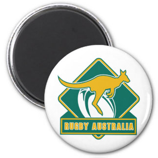 rugby australia kangaroo wallaby magnet
