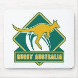rugby australia kangaroo wallaby mouse pad