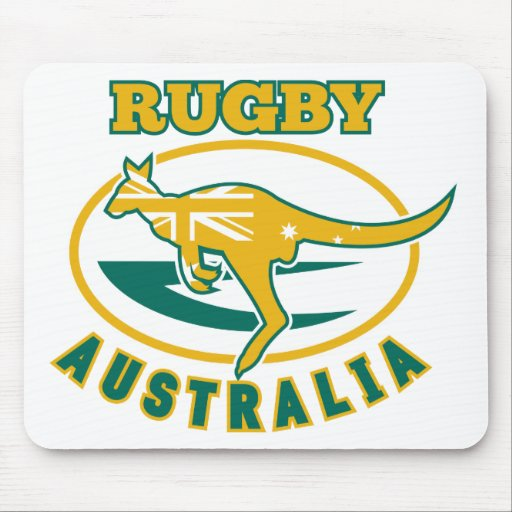 Rugby Australia kangaroo wallaby Mouse Pads