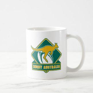 rugby australia kangaroo wallaby coffee mug